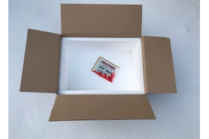 Winter packaging: Styrofoam box + heat pack