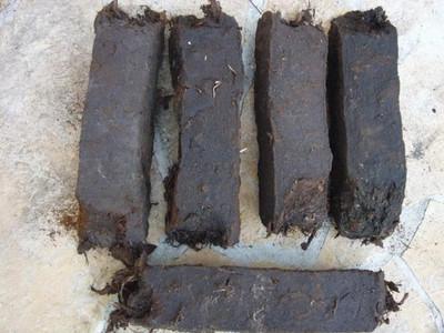 5 x Bloc de tourbe noire dur 6x6x30cm